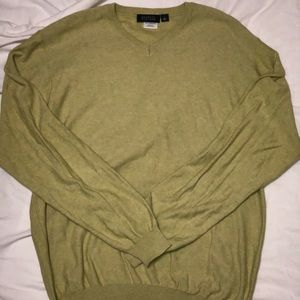 Mens Barneys new York Vneck Sweater